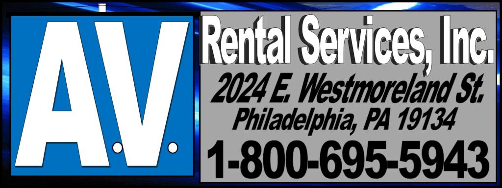 avrs, av rentals, audio rental, video rentals, philadelphia, westmoreland, 8006955943