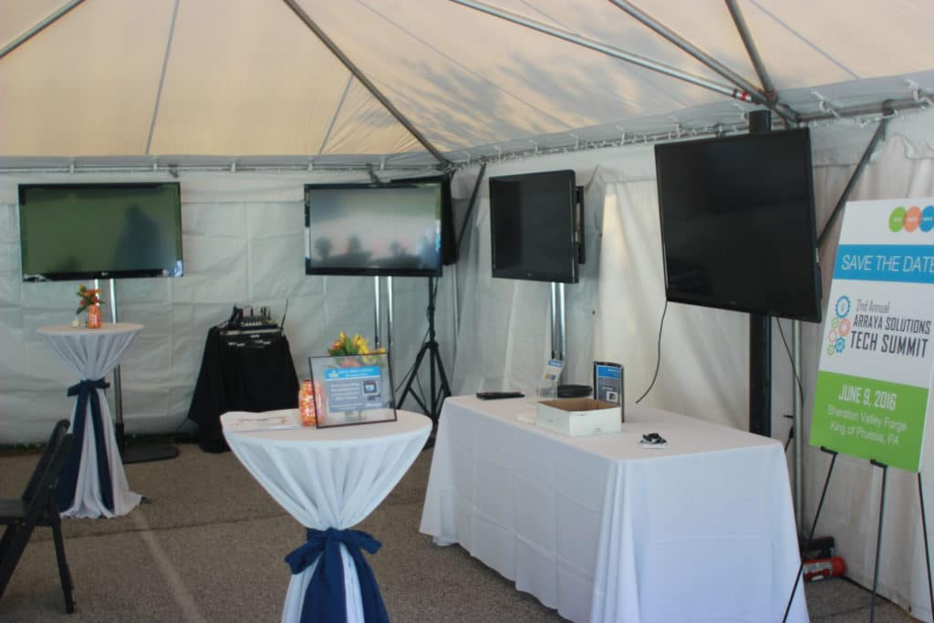 large screen, tv, tv rental, big screen, array solutions, audio visual, equipment rental, rentals