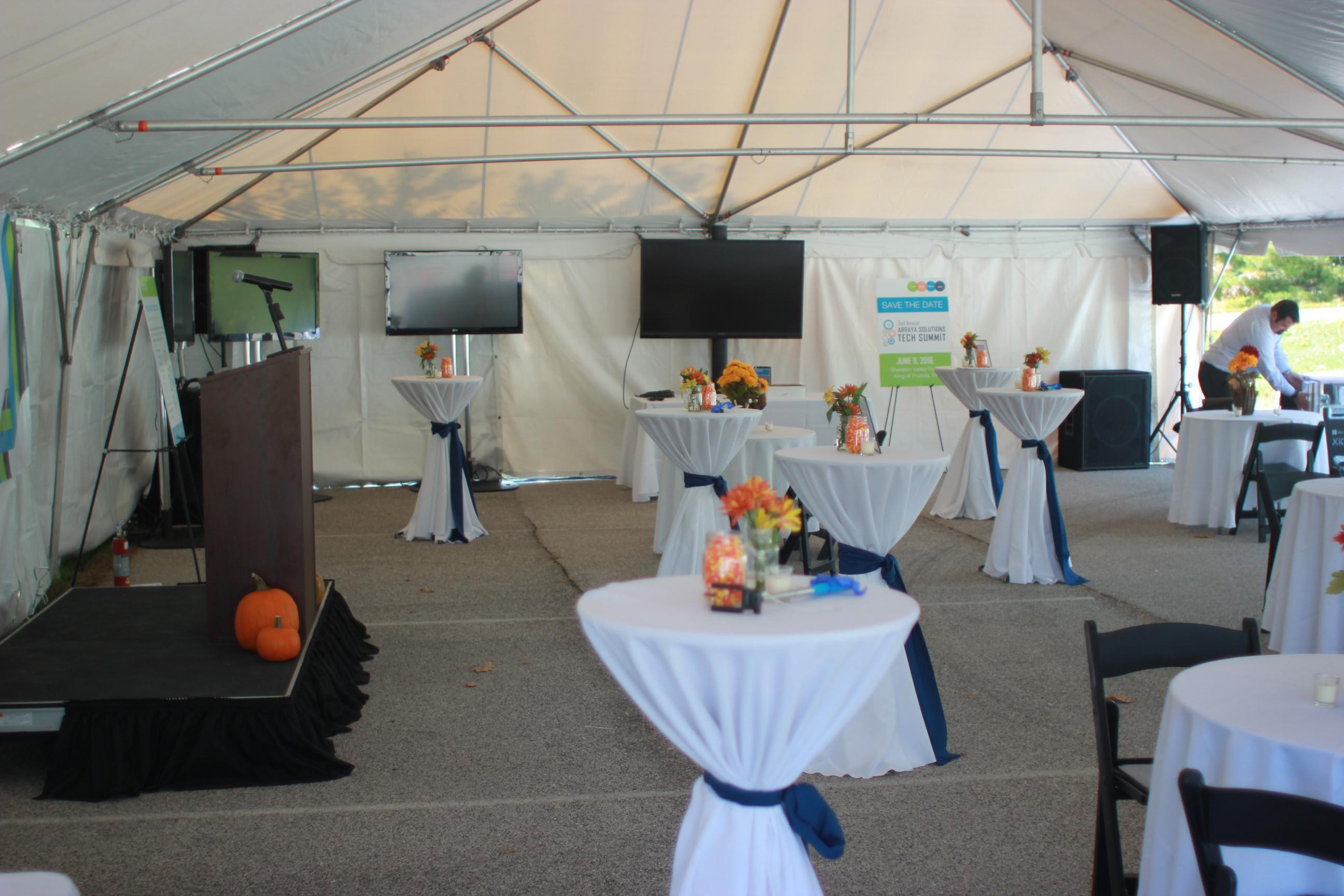 large screen, tv, podium rental, big screen, array solutions, audio visual, equipment rental, rentals
